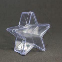 Caixinha Acrílica Estrela Média Cristal pct c/10