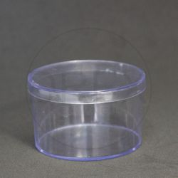 Caixinha Acrílica Redonda 6x4 Cristal pct c/10