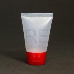 Bisnaga Plástica 30ml Transparente c/tp Flip Top