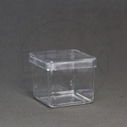 Caixinha Acrílica 4x4 Cristal pct c/10