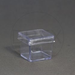 Caixinha Acrílica 3x3 Cristal pct c/10