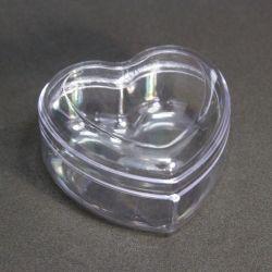 Caixinha Acrílica Coração Médio 7x7x4  pct c/10