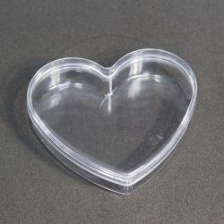 Caixinha Acrílica Coração Fino 7X7x2 pct c/10