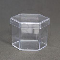 Caixinha Acrílica 5x5 Sextavada Cristal pct c/10