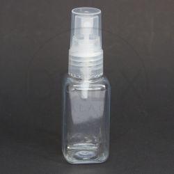 Frasco PET Quadrado 40ml c/ Válvula Spray