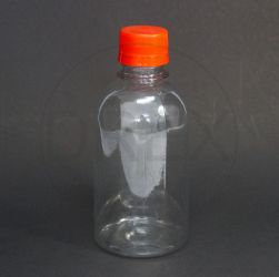 Frasco PET Cilíndrico 250ml c/ Tampa Plástica Lacre