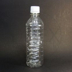 Frasco PET Aguá 500ml c/ Tampa Plástica Lacre