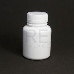 Pote Plástico Branco 180ml c/tp Rosca Lacre