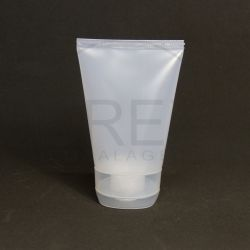 Bisnaga Plástica Transparente 110gr c/ Tampa Flip Top