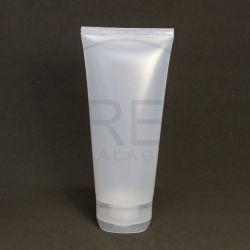 Bisnaga Plástica 200ml Transparente c/tp Flip Top Grande