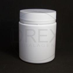 Pote Plástico Branco 750ml c/ Tampa Rosca Lacre