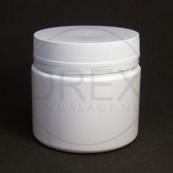 Pote Plástico Branco 500ml c/ Tampa Rosca Lacre