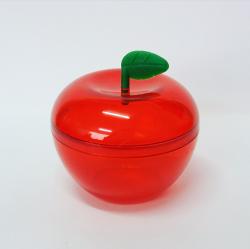 Caixinha Acrílica Maçã Vermelha c/ Folhinha pct c/10