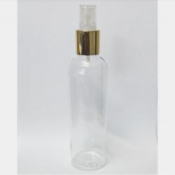 Frasco PET Cosme 240ml c/ Válvula Spray Dourada